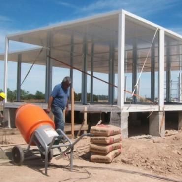 Avanza la construcción  de la U.P.A. en Lezama