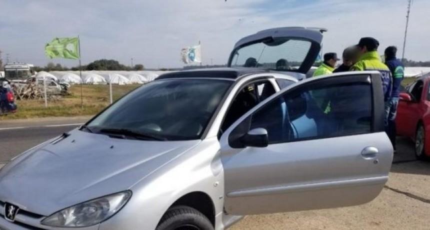 interceptaron un auto con importante cantidad de drogas en la Autovía 2