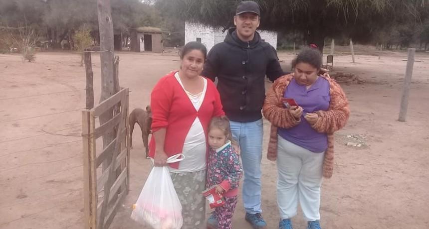 Daniel Donadío recorrió El Impenetrable dejando donaciones