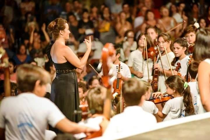 Intérpretes locales en la Fiesta Federal de las Orquesta Escuela