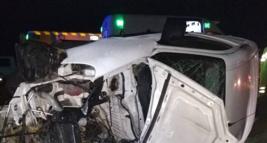 General Conesa: un choque frontal provocó dos muertos y cinco lesionados