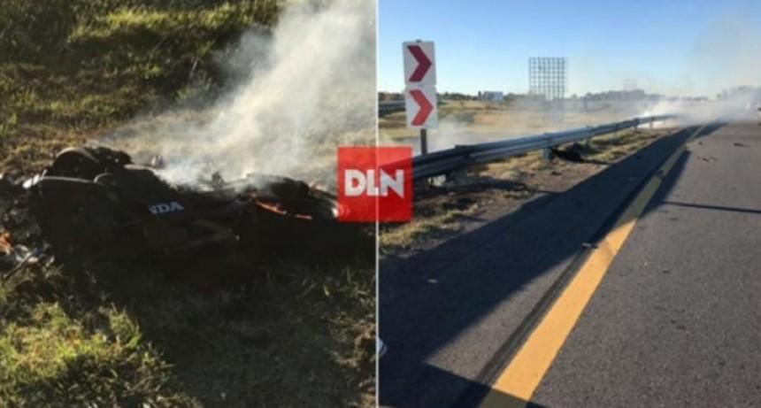 Un motociclista murió en un accidente en Autovía 2