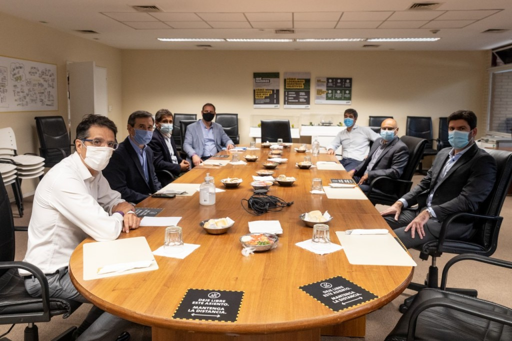 Harispe tuvo un encuentro con autoridades de AUSA