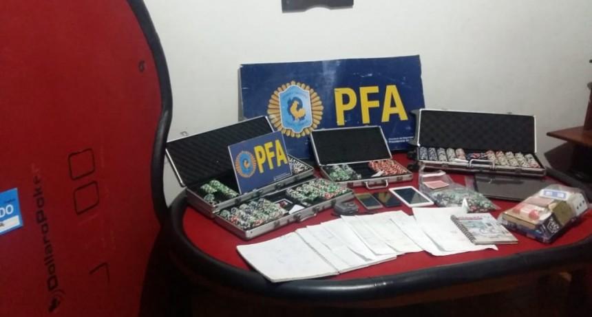 La Policía Federal realizó un allanamiento por juego clandestino en Chascomús