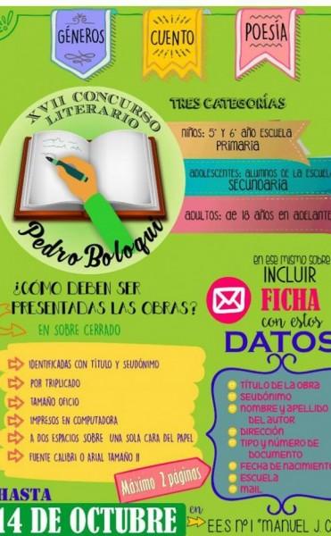 17º Concurso Literario Pedro Boloqui