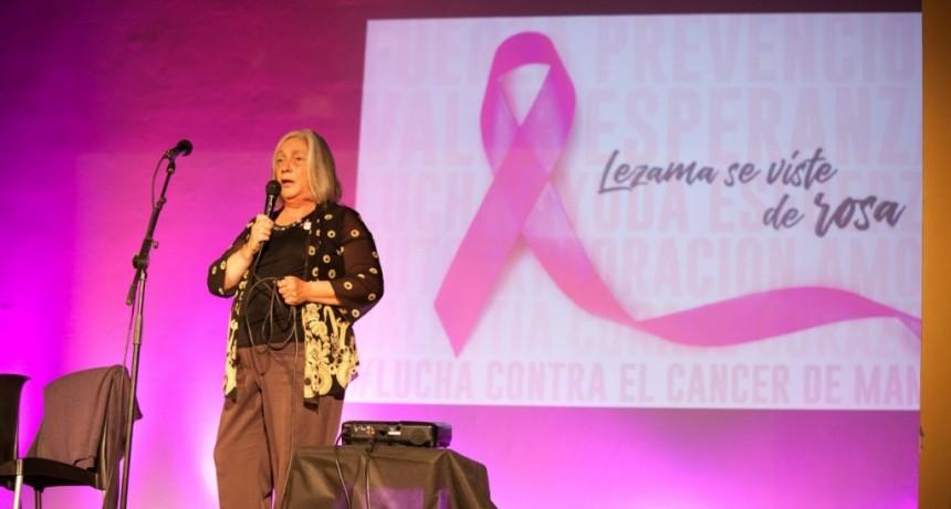 """""""superamos el cáncer de mama en base a la actividad física y a juntarnos"""""""