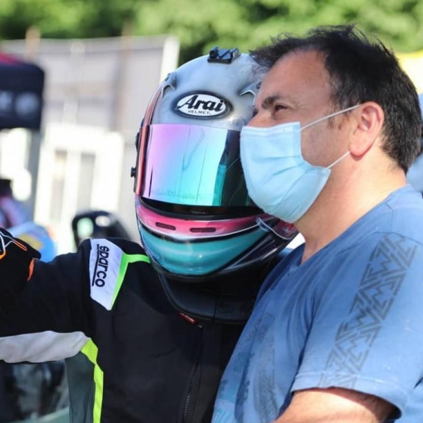Valentina Funes condicionada por un juego de neumáticos