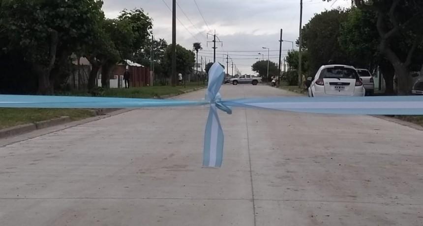 """Harispe: """"Junto a los vecinos de Lastra y Bouchard dejamos habilitadas las cuadras 41 y 42 de pavimento de hormigón"""